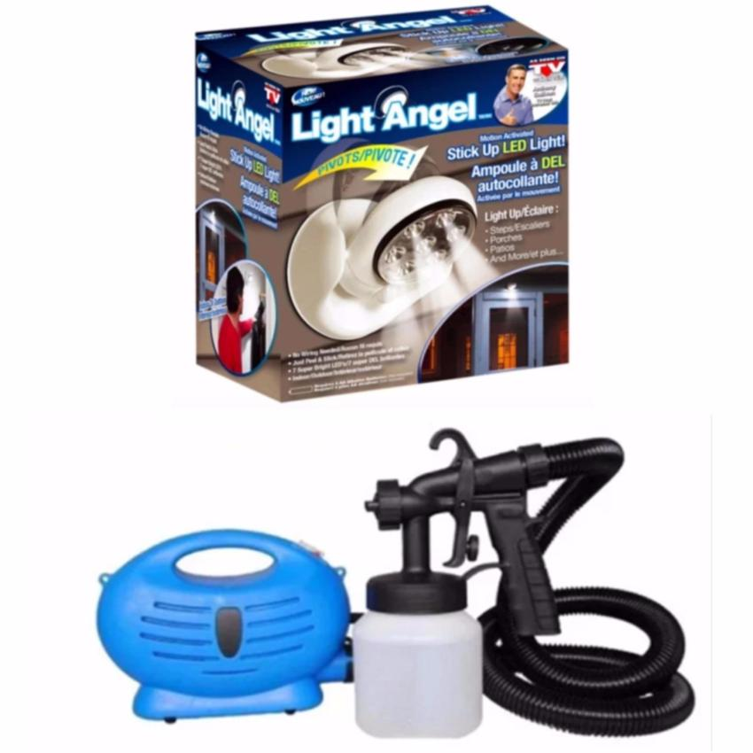 Light Angel Motion Activated Cordless LED Night Sensor Light(White) with Paint Zoom Sprayer Price Philippines