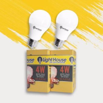 LightHouse LED Bulb E27 Warm White (Premium) 4W 3000K P45 2 Pcs