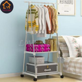 LOVE&HOME HIGH QUALITY TRIANGULAR CLOTHES RACK (SILVER)