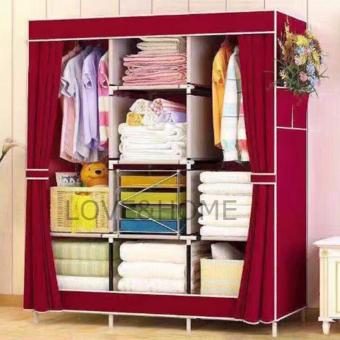 LOVE&HOME Hight Quality Multifunction Fashion Cloth Wardrobe (Red)