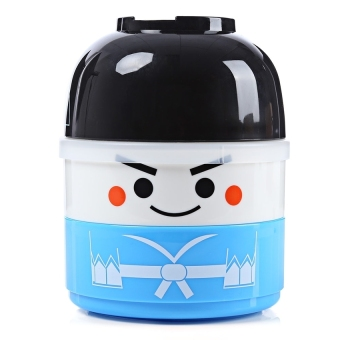 LZ Vacuum Thermal Double Layer Lovely Doll Lunch Box WarmFoodcontainer For Kids Boy (Boy) (Blue) - intl Price Philippines