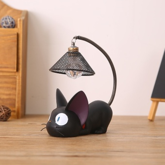 Magic GiGi Cat Small Night Light Creative Home Resin Crafts Net Hole Lamp Shade Table Lamps - intl