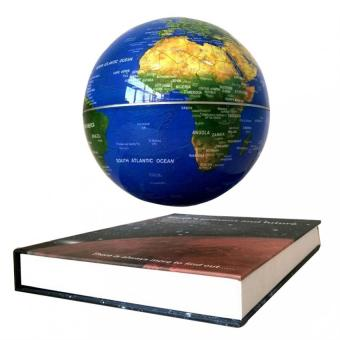 Maglev Magnetic Levitation Globes -6 Inch Books Globe World MapDecoration Home Decor (Blue)