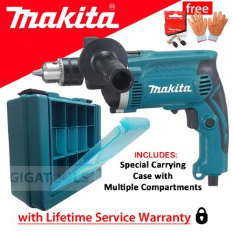 "Makita HP1630K Hammer Drill 5/8"" 710W with Original Makita CarbonBrush and Gloves with Rubber Palm Price Philippines"