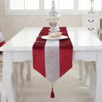 Makiyo Luxury Table Runner Flannel Rhinestones Tassel Marriage Chirstmas Home Decor - intl Price Philippines