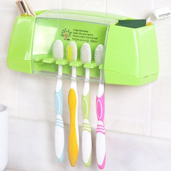 Makiyo Multifunctional Toothbrush Holder Storage Box Bathroom Suction Hooks - intl Price Philippines