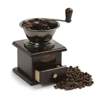 Manual Wooden Coffee Grinder-black