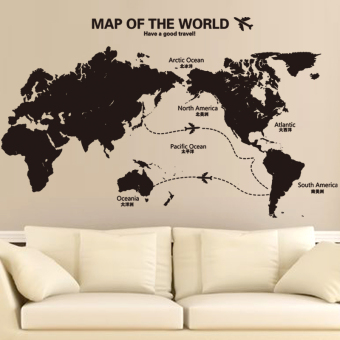Map cool large world map living room sofa backdrop adhesive paper
