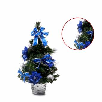 merry bright mini mini christmas tree with christmas accessories ornaments blue