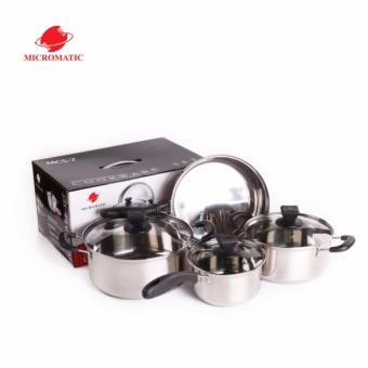 Micromatic MCS-7 Quality Stainless Steel Ware 7pcs Cookware Set
