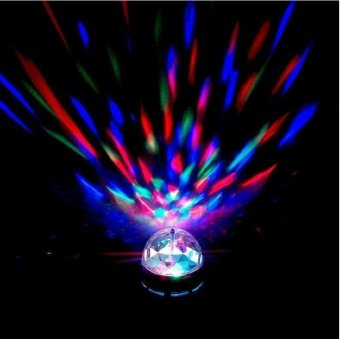 Mini RGB LED Rotating Light MP3 DJ Club Pub Disco Party MusicCrystal Magic Ball Stage Effect Light