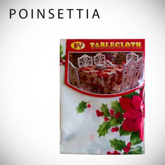MMC Design Christmas Tablecloth Table Covers Decoration(Poinsettia)