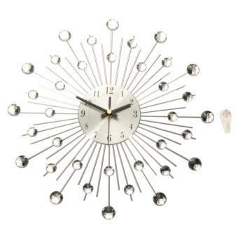 Price And Specification Modern Metal Sunburst Wall Clock Clear