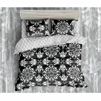 MODERN SPACE High Quality Fitted Bedsheet Single Size With FREE Two Pillow Cases Okir Printed Design