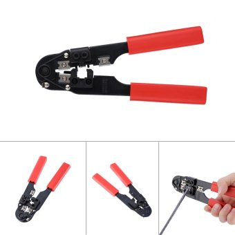 Modular Crimping Cutting Striping Networking Wire Tool Kit for 8P8C rj45 - intl