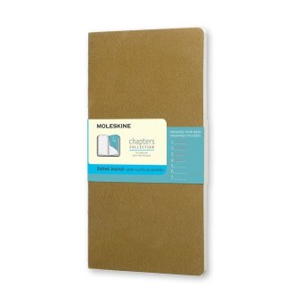 Moleskine Chapters Journal Dotted Slim Large (Tawny Olive)
