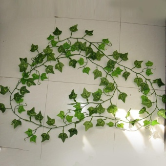 Moonar Decoration 2.5m/98in Delicate Artificial Ivy Leaf Garland Plant Vine Fake Foliage Flowers Beautiful Wedding Party Supplies (Ivy vine) - intl Price Philippines