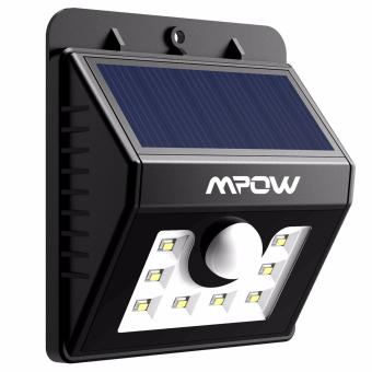 Mpow(R) MSL5 Bright 8 LED Solar Powered Led Security Lights with Motion Sensor Wireless Waterproof Wall Lights