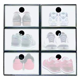 New 2017 Best Home Best Quality Sunnyware Shoe Mate ClearCollapsible Shoe Box - Large (SET OF 3)