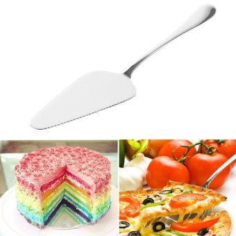 New Cake Pizza Cheese Shovel Cutter Slicer Stainless Steel BakingCooking Tool - intl