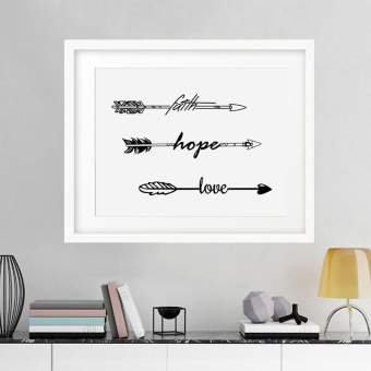 New Design North Europe Style Arrows Faith Hope Love Home DecorPicture(30x40cm) - intl Price Philippines
