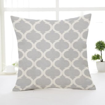 New Geometric Patterns Linen Throw Pillow Case Car Sofa CushionCover Home Decor Grey