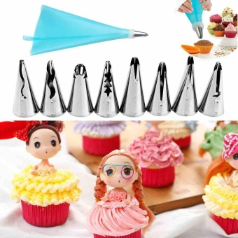 New Russian Cake Decorating Icing Piping Nozzles Pastry Tips Baking Tool 10Pcs - intl