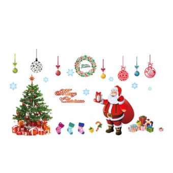 New Santa Claus Christmas Tree Wall Stickers AY226A+B - intl