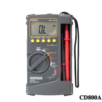 New SANWA CD800A DIGITAL Multimeter CD800A CD800a DMM 4000 Volt Counter Tester Meter - intl