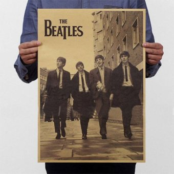 New The Beatles Rock Bands Poster Retro Kraft Paper Home Bar Pub Decor - intl