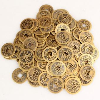 niceEshop 50pcs Authentic Ancient Chinese Coins Qing Dynasty FengShui Purpose Fortune Copper Coin, Random Mixed 2.3cm/1inch - intl Price Philippines
