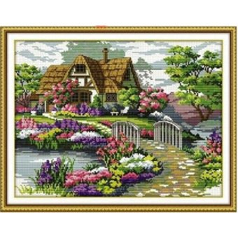 OEM DIY Handmade Cross Stitch Embroidery Set Countryside Cottage Beautiful Homes Home Decor (Intl) Price Philippines