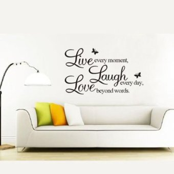 Okdeals Room Live Laugh Love Design Wall Decals Stickers Black Price Philippines
