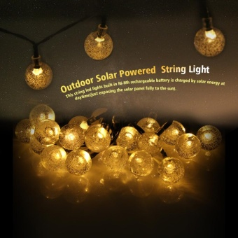 Outdoor Solar Powered 30 LED Globe Ball String Light Garden Path Yard Lamp Decor Multi-color - intl