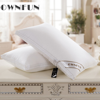 Ownfun2016 white goose down five-star hotel three layer pillow down pillow