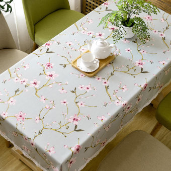 Pastoral fabric coffee table rectangular tablecloth table cloth