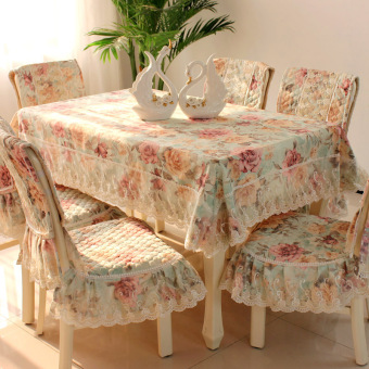 Pastoral lace European dining chair cover