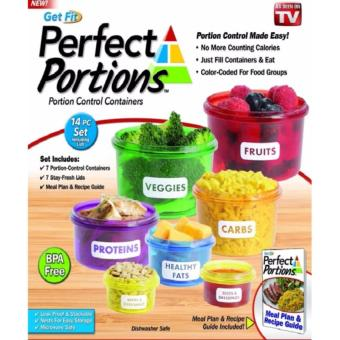 Perfect Portions Food Storage Containers - Easy Way To Lose Weight Using Portion