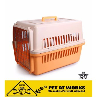 Pet Carrier 1001 Color Orange (48.5cm x 30cm x 31cm) AirlineStandard Pet Height Up To 30cm For Small Dog and Cat