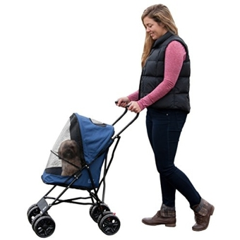 Pet Gear Travel Lite Pet Stroller for Cats and Dogs up to15-pounds.Navy - intl