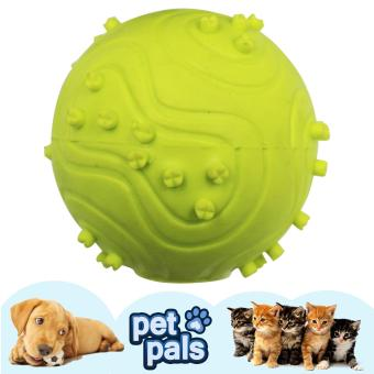 Petpals Squeeky Spike Rubber Ball Pet Dog Toy (Green)