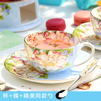 Pinlaiyun afternoon tea ceramic British tea cup and saucer bone china coffee cup