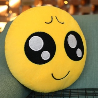 Pitiful Face Creative Emoji Throw Pillow Back Pillow, Size: About28cm X 28cm - intl