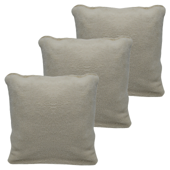 Plain Cotton Throw Pillow Case Cover (Dirty White) Set of 3