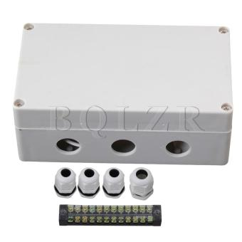 Plastic 12 Bit Waterproof Connector Electric Junction Box 1 to 3 -Intl