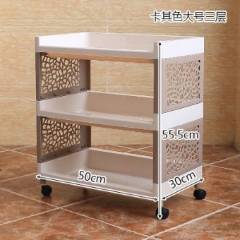 Plastic living room multi-organizing rack bathroom kitchen shelf