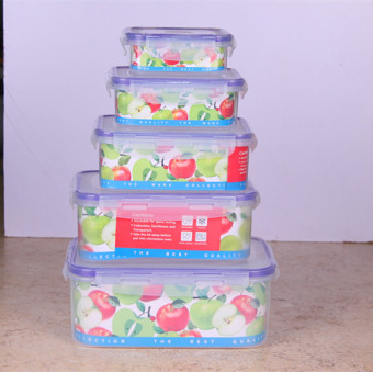Plastic transparent rectangular with lid fruit box freshness box