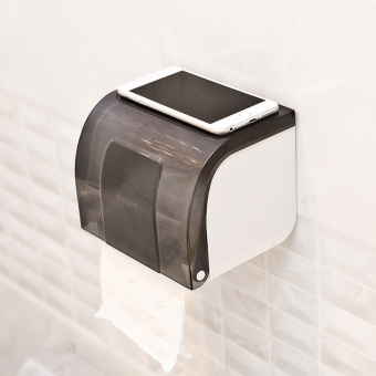 Plastic waterproof punched roll holder bathroom tissue box