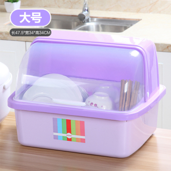 Plastic with lid box kitchen shelf storage box