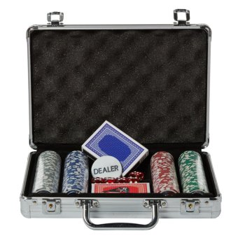 Poker Chips in Aluminum Case Set of 200